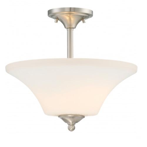 Fawn LED Semi Flush Light Fixture, Brushed Nickel Finish