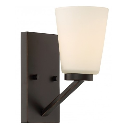 Nome Vanity Light Fixture, Mahogany Bronze, Frosted Glass
