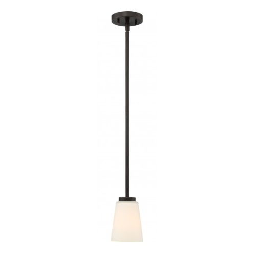 Nome Pendant Light Fixture, Mahogany Bronze, Frosted Glass