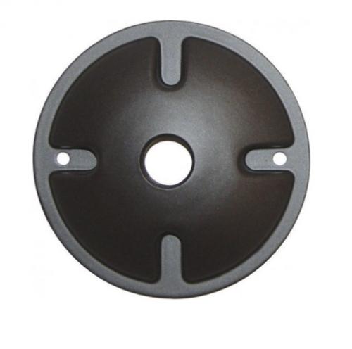 4.5in. Mounting Plate for Outside Light, 1-Light, Dark Gray