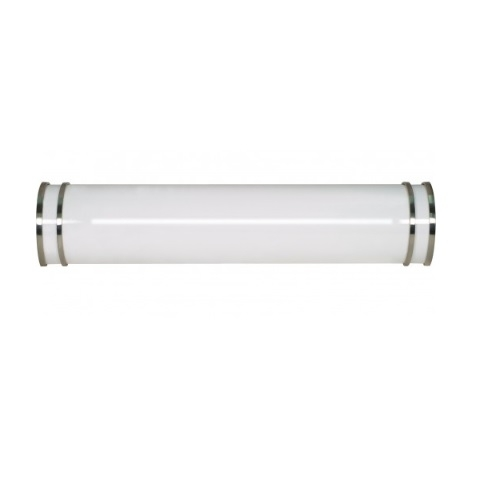 "25"" Glamour Wall Mounted Vanity Light Fixture, Fluorescent"
