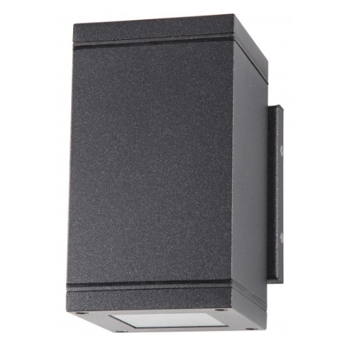 Verona LED Small Outdoor Vertical Light Fixture, Anthracite