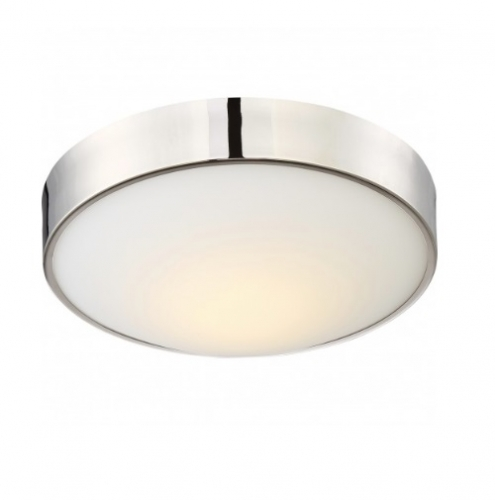 16W Perk 13in LED Flush Mount, Polished Nickel
