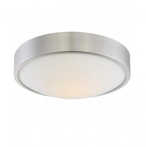 16W Perk 13in LED Flush Mount, Brushed Nickel