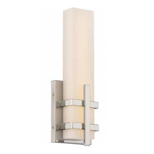 13W Grill LED Wall Sconce, Single, Polished Nickel