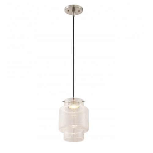 Nuvo 12w Del Led Mini Pendant Lights Brushed Nickel Finish