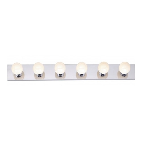 Nuvo 6 Light Bathroom Vanity Strip Fixture Polished Chrome