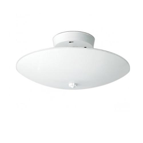 12in Semi-Flush Mount Light Fixture, Round, 2-light, White