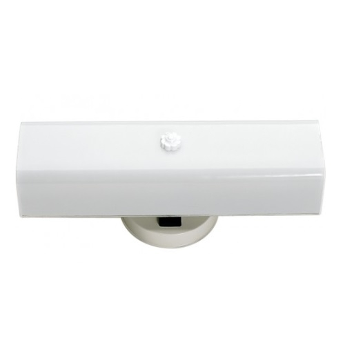 "14"" Vanity Light Fixture w/ Bottom Turn Switch, White ""U"" Channel Glass"