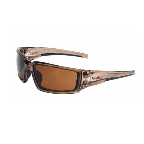 Hypershock Safety Eyewear w/ Blue Mirror Lens & Clear Frame