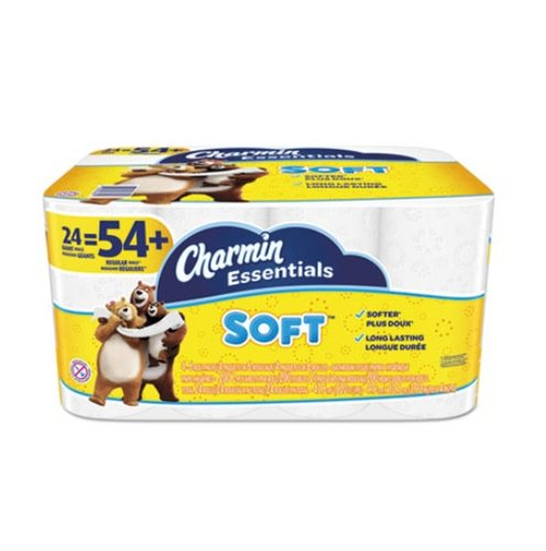 Charmin Essentials Soft Bathroom Tissue, 2-Ply, 24 Rolls/Pack
