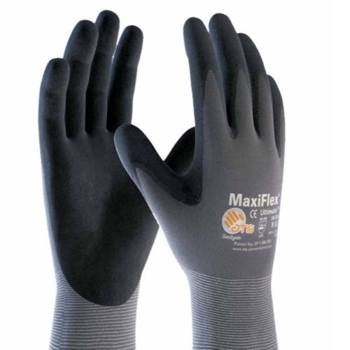 MicroFoam Nitrile Gloves, X-Large, Black/Gray