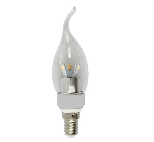 Dimmable LED Flame Tip Candelabra 3W 2700K