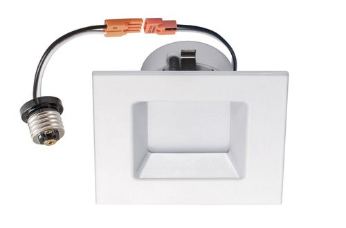Square 4 Inch 10W Energy Star Dimmable LED Downlight 3000K