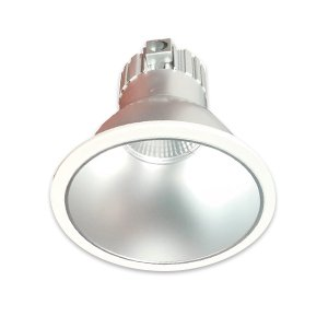 "37W Dimmable Retrofit LED Can Light, 3000K, 8"" Diameter, White, Glossy Finish"