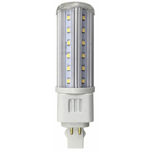 5000K, G24Q Base, 8W T10 LED 4-Pin Horizontal Bulb