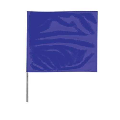 2-in X 3-in X 21-in Wire Stake Marking Flags, Blue
