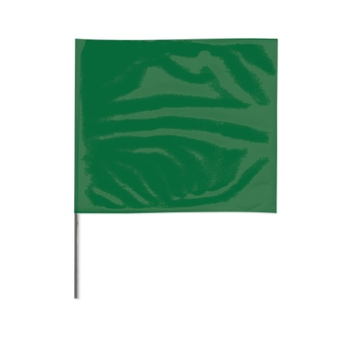 2-in X 3-in X 21-in Wire Stake Marking Flags, Green