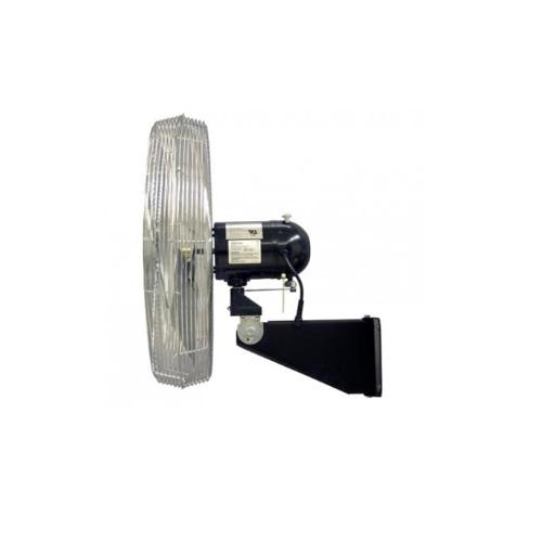 24-in Oscillating Industrial Fan Head  & Wall Mount, 2-Speed Pull Chain