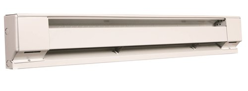 500W at 208V, 2.5 Foot Residential Baseboard Heater, White