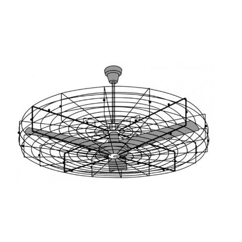 52-in Fan Guard for 36-in or 48-in Commercial Ceiling Fan