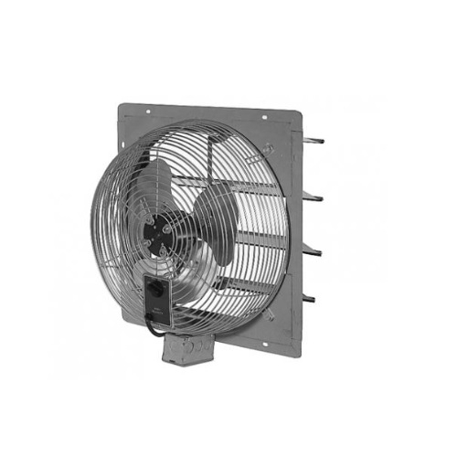 16-in 1.1 Amp Direct Drive Commercial Exhaust Fan w/ Shutter, 2250-3000 CFM