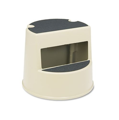 Beige Plastic Mobile Two-Step Step Stool