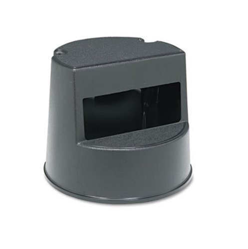 Black Plastic Mobile Two-Step Step Stool