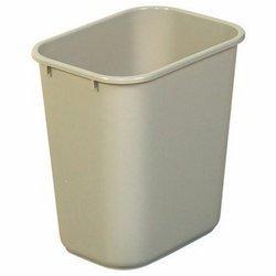 Beige Soft Molded Plastic 28-1/8 qt. Wastebasket