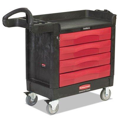 TradeMaster Cart, 500-lb Cap, One-Shelf, 18-3/8w x 40-5/8d x 33-3/8h, Black