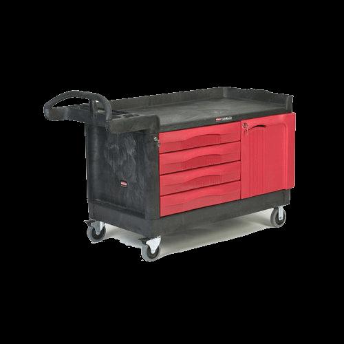 Cart with 2 Door Cabinet, Small