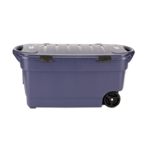 Genial 45gal, Roughneck Wheeled Storage Box, Dark Indigo Metallic