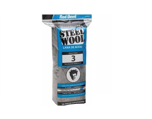 Professional Coarse #3 Steel Wool for Paint Removal