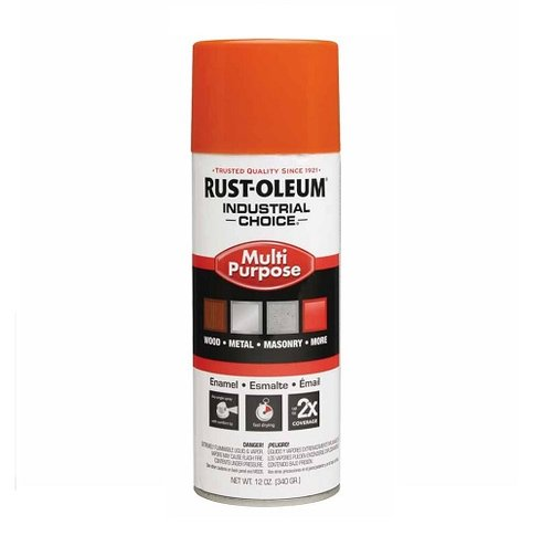 12 oz Hi-Gloss Safety Orange Industrial Choice 1600 System Enamel Aerosol