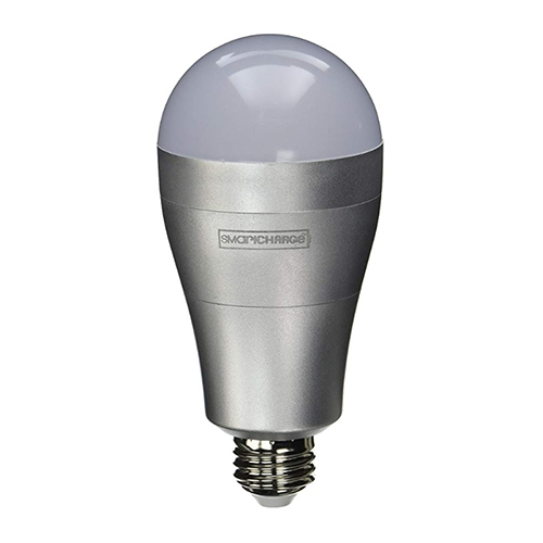 8W Rechargeable Emergency LED Light Bulb, A21, 630 lm, 2700K