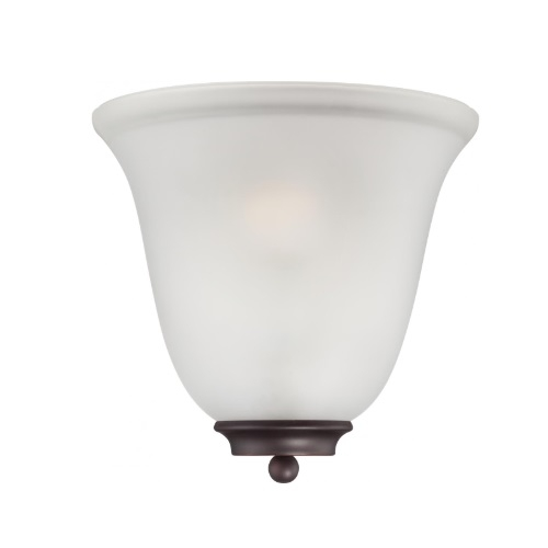 60W Empire LED Wall Sconce w/Frosted Glass, 1 Light, Mahogany Bronze