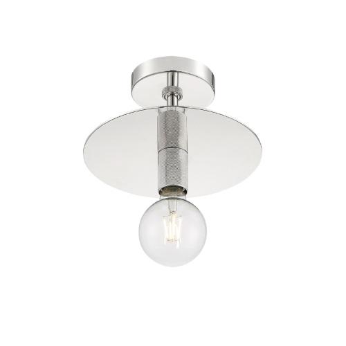 60W Bizet Series Semi Flush Ceiling Light, Polished Nickel