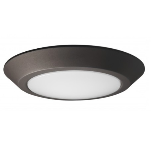 new york 68bd5 4461f SATCO 12W Round 10 Inch LED Flush Mount, Dimmable, 3000K, Mahogany Bronze