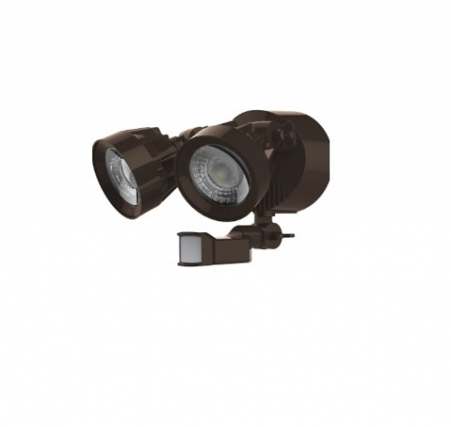SATCO 24W LED SIngle Head Security Light w/Motion Sensor, Bronze Finish,  4000K