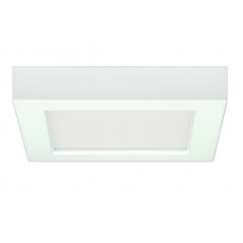 13.5W Square 7 Inch LED Flush Mount, Dimmable, 4000K, White