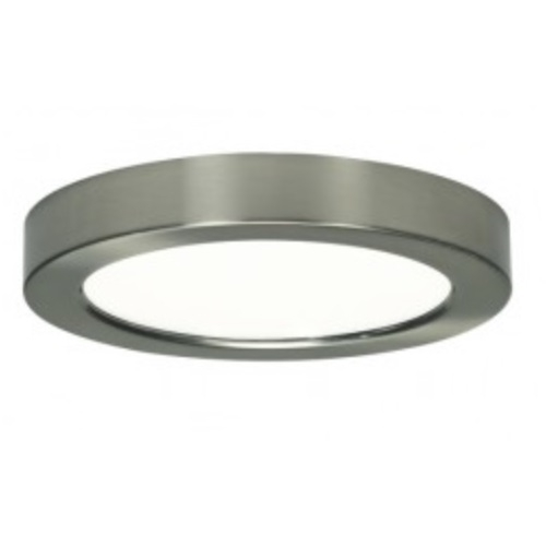 13.5W Round 7 Inch LED Flush Mount, Dimmable, 2700K, Brushed Nickel