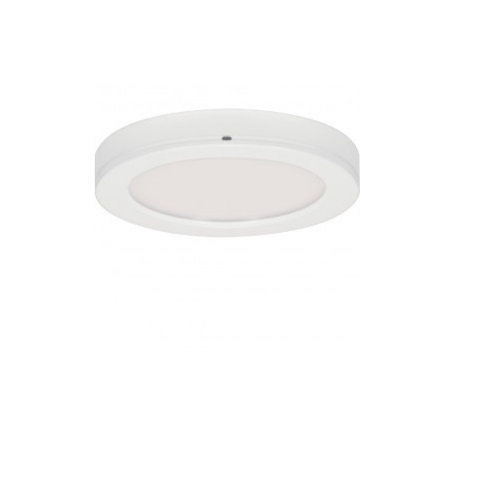 "Blink 13.5W 7"" Round LED Flush Mount, 3000K, 90 CRI White"
