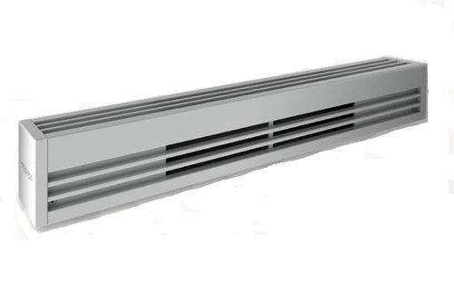 White, 480V, 1750W Architectural Baseboard Heater, Standard Density