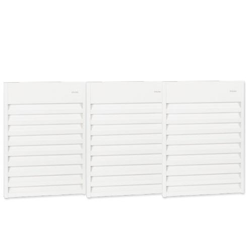 9000W Aluminum Wall Fan, 24V Control, Triple Unit, 3 Ph, 208V, White