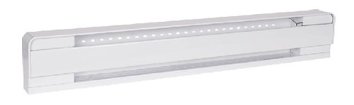 500W Baseboard, 240V, High Altitude, White, 27.63 Inches