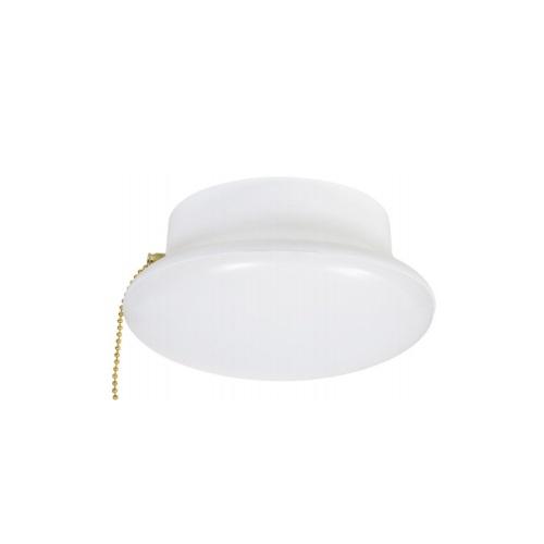 "7"" 15W Ceiling Light for E26 Base w/ Pull Chain, 100W Inc. Retrofit, Dim, 1200 lm, 4000K"