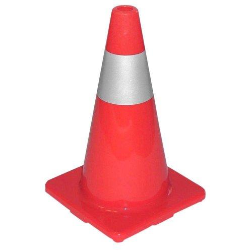 18'' Traffic Cone Orange/Silver