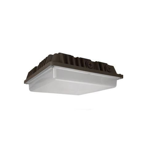40W LED Canopy Light w/ Photocell Sensor, 5000K, Bronze