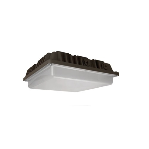 57W LED Canopy Light w/ Photocell Sensor, 5000K, Bronze