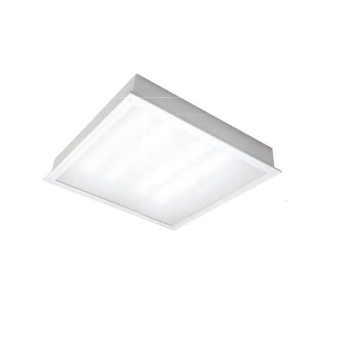 TCP 22W 2X2 LED Recessed Troffer Light, 2000 Lumens, Dimmable, 3000K,  Frosted